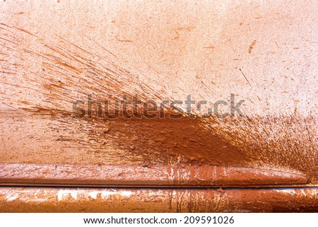 dry mud at side  - stock photo