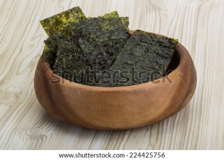 Dry nori - seaweed asian snack for sushi - stock photo