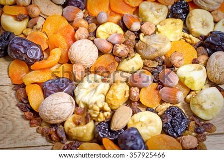 Dry organic fruits - stock photo