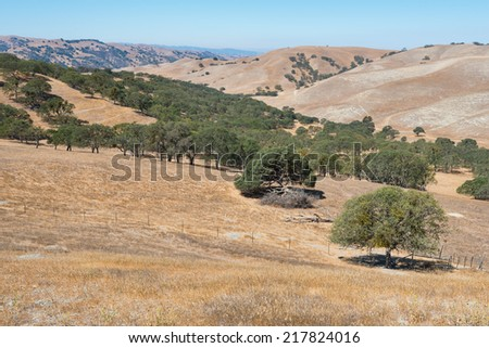 Dry parched hills, Livermore, California