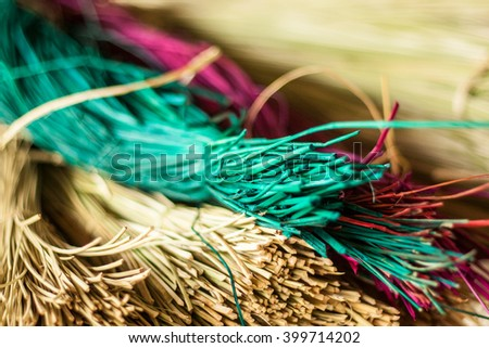 dry reed is good material for making woven mat. - stock photo