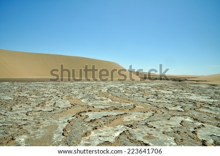Dry river bed in Namib Desert, Namibia
