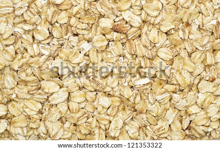 dry rolled oats background - stock photo