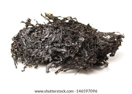 dry seaweed isolated on white background  - stock photo