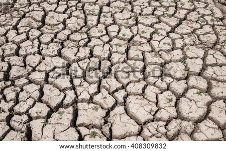 dry soil arid. drought land textured backgrounds - stock photo