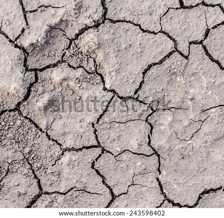 dry soil cracks closeup background - stock photo