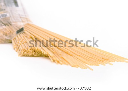 Dry Spaghetti Noodles - stock photo