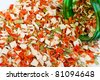 Dry spices background. A set of colour dried flavoring - stock photo