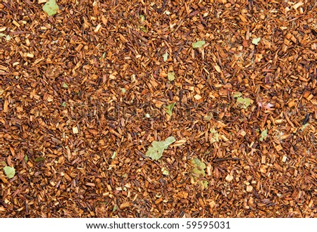 Dry tea leaves background - stock photo