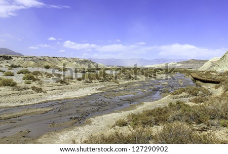 Drying River Bed - stock photo