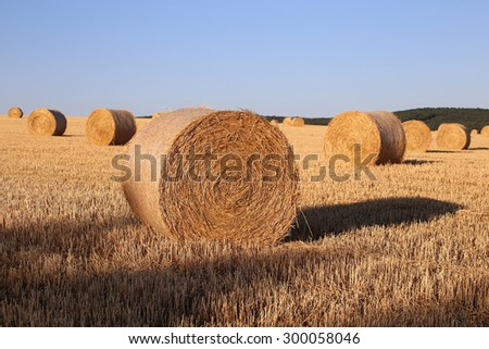 Drying straw