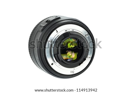 dslr lens - stock photo