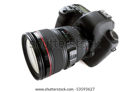 dslr photocamera isolated on white