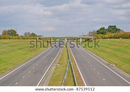 Dual Carriageway - stock photo