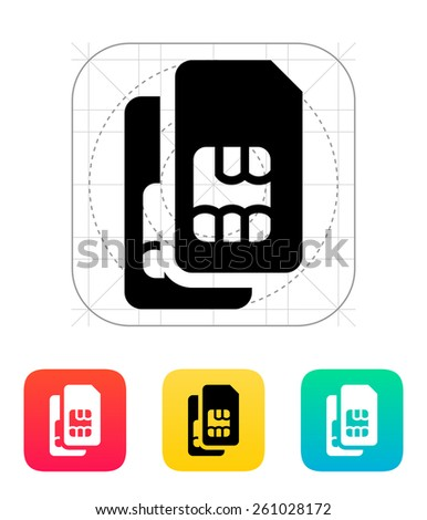 Dual SIM cards icon. - stock photo