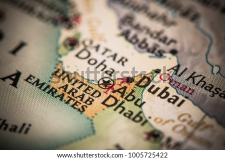 Dubai united arab emirates on world stock photo royalty free dubai and united arab emirates on a world map gumiabroncs