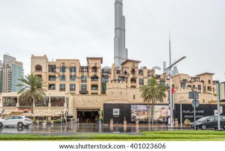 Dubai - APRIL 1, 2016: Soul Al Bahar on April 1 in UAE, Dubai. Soul Al Bahar area is popular for tourists - stock photo