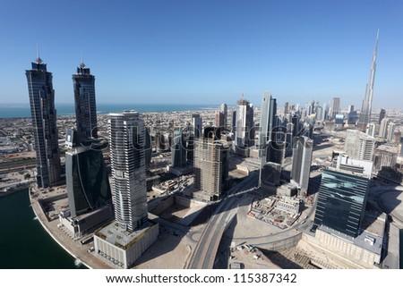 Dubai Business Bay, United Arab Emirate - stock photo