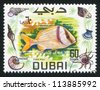 DUBAI - CIRCA 1969: stamp printed by Dubai, shows fish, Porkfish, circa 1969 - stock photo