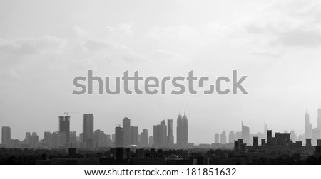 Dubai -  city of the tallest skyscrapers in the world - stock photo