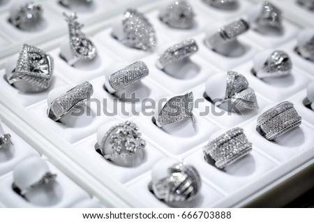Dubai Gold Souk Jewelery Ring Market Stock