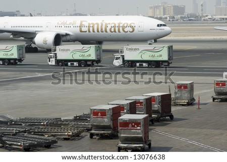 dubai international airport. - stock photo