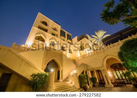 Dubai - JANUARY 9, 2015: Soul Al Bahar on January 9 in UAE, Dubai. Soul Al Bahar area is popular with tourists - stock photo