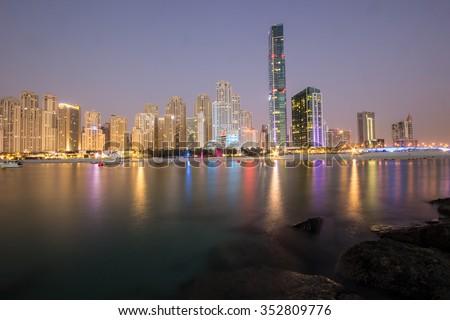 Dubai Jumeirah Beach Residence  - stock photo