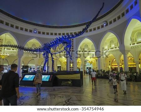 DUBAI MALL,DUBAI, UAE-15TH AUG 2015:-The Dubai mall is more than just shopping it is an experience. - stock photo