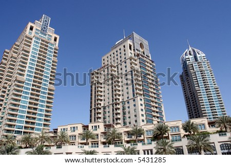 Dubai Marina Condominiums - stock photo