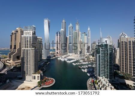Dubai Marina. United Arab Emirates - stock photo
