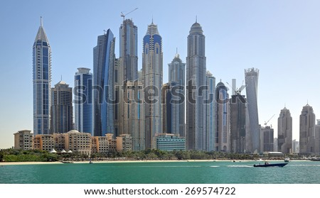 Dubai Marina (United Arab Emirates) - stock photo