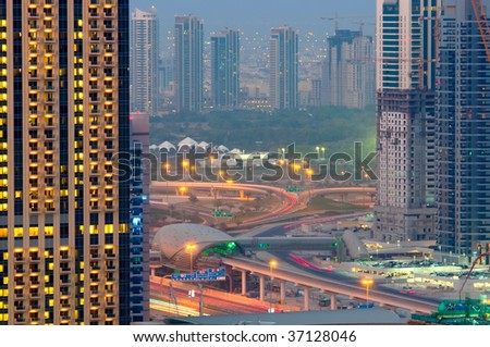 Dubai Metro - stock photo
