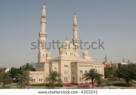 Dubai Mosque - stock photo