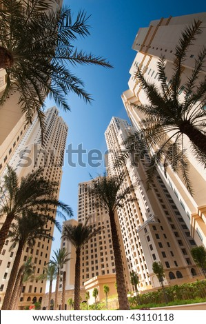 Dubai Residential Apartments - stock photo