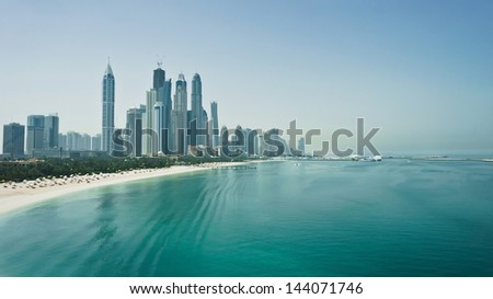 Dubai - the fastest growing city in the world - stock photo