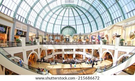 DUBAI, UAE - 12 December 2013: Mall of the Emirates in Dubai, UAE.  - stock photo