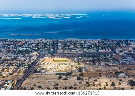 Dubai uae february 03 view on stock photo royalty free 136271915 dubai uae february 03 view on world islands an artificial archipelago of gumiabroncs Image collections