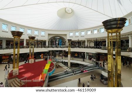 DUBAI, UAE - JAN 27: Deira City Centre Shopping Mall during the 15 Dubai Shopping Festival January 27, 2010 Dubai, United Arab Emirates - stock photo