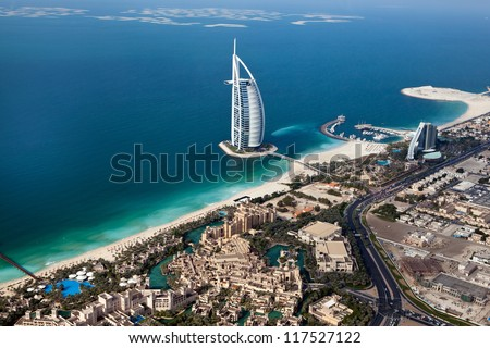 DUBAI, UAE - JANUARY 20: Burj Al Arab hotel on January 20, 2011 in Dubai, UAE. Burj Al Arab is a luxury 5 star hotel built on an artificial island in front of Jumeirah beach