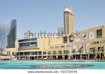 DUBAI,UAE - MARCH 10,2012 : Shop the Dubai Mall view from the main entrance - stock photo