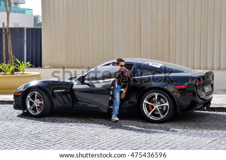 DUBAI,UAE - MARCH 9,2012:the Modern car on the roads of the city