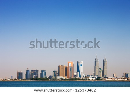 DUBAI, UAE - MAY 7 - Dubai Media City (DMC) part of Dubai Holding is a tax free zone within Dubai, has been built by the Dubai government to boost UAE's media foothold. May 7, 2010. - stock photo