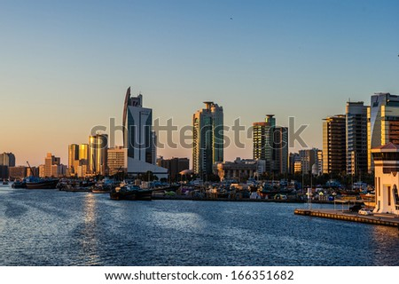 Dubai,UAE.Shore line view from Bur Dubai to Deira Creek Side. - stock photo