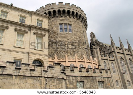 Dublin Castle 2 - stock photo