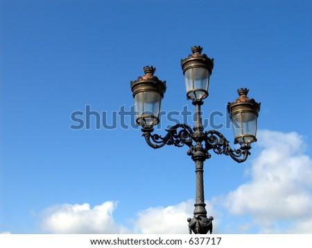 Dublin City street lights - stock photo