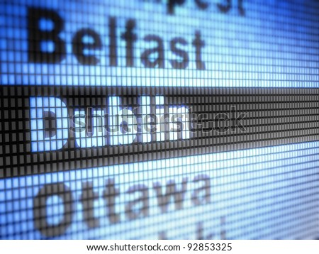 Dublin. World capitals  Full collection of icons like that is in my portfolio - stock photo