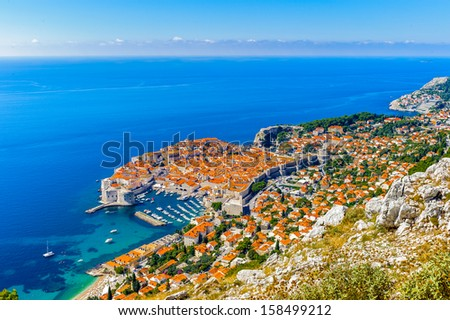 Dubrovnik, a Croatian city on the Adriatic Sea, it is one of the most prominent tourist destinations in the Mediterranean. Pearl of the Adriatic - stock photo