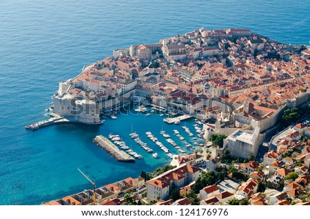 Dubrovnik - Adriatic sea,Croatia - stock photo