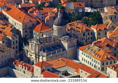 Dubrovnik church  - stock photo